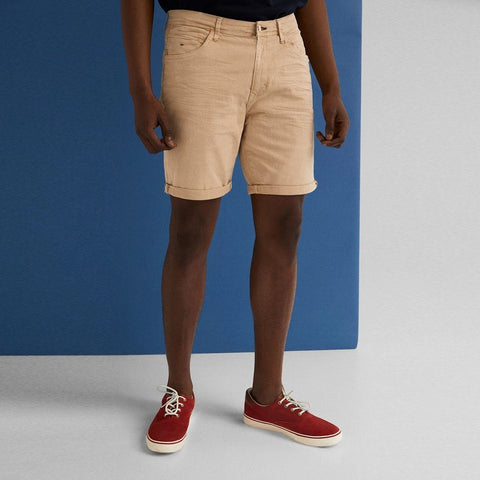 "'Slim Fit' Stretch Bermuda Short ""Camel"""