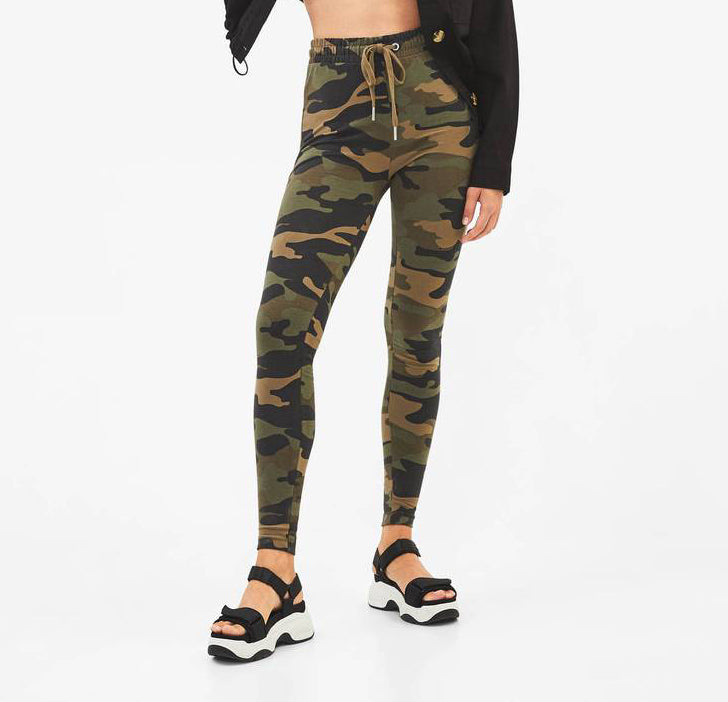 Camouflage Plush Leggings