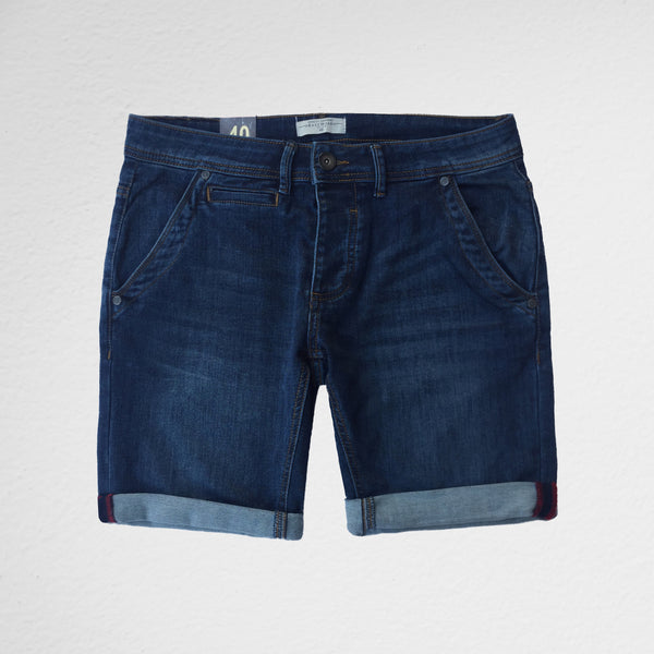 Blue Denim Bermuda Shorts