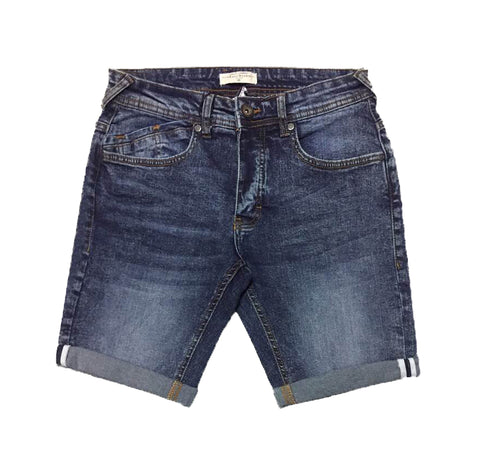Faded Blue Denim Short