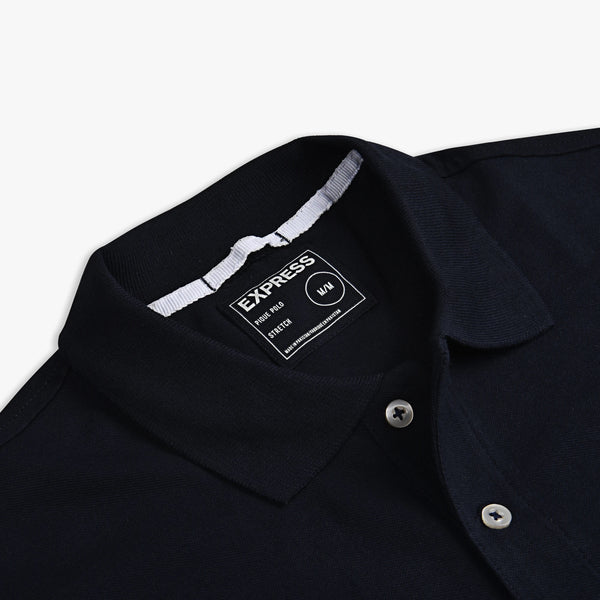 "Embroidered Logo Solid Polo ""Black"""