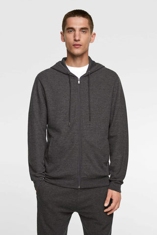 "Basic Hoodie Sweatshirt ""Anthracite Grey"""