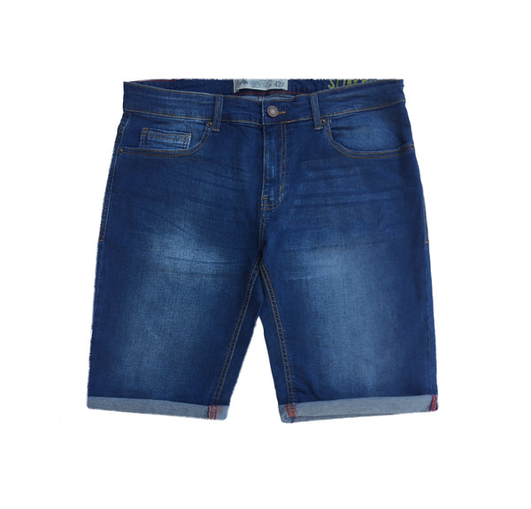 Blue Denim Faded Short