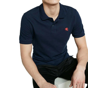 Embroidered Logo Solid Polo