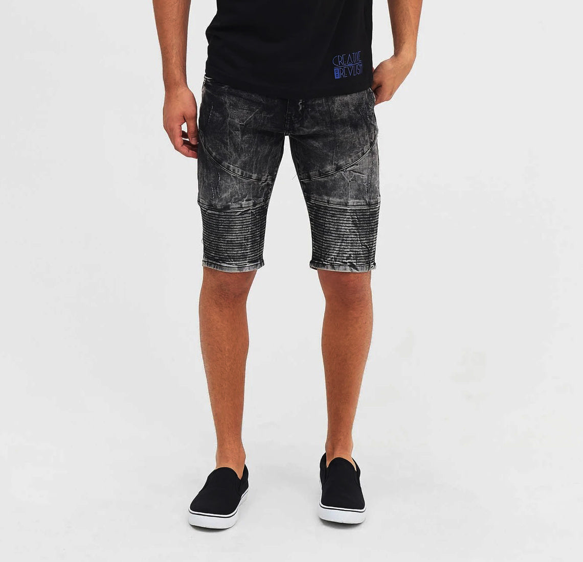 Stretch Lines Textured Short