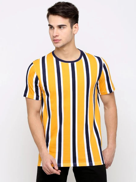 Variegated Multi Plus Strip T-Shirt
