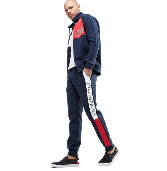"Tommy Hilfiger Side Flag Stripe Super Soft Trouser ""Navy"""