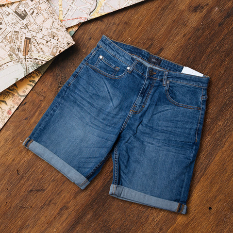 Blue Washed Denim Short