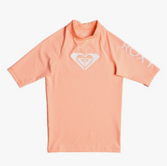 Whole Hearted - Short Sleeve UPF 50 Rash Vest for Girls 8-16 ERGWR03079 SOUFFLE