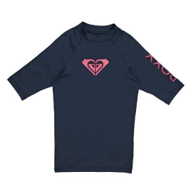 Whole Hearted - Short Sleeve UPF 50 Rash Vest for Girls 8-16 ERGWR03079 MEDIEVAL BLUE