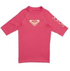 Whole Hearted - Short Sleeve UPF 50 Rash Vest for Girls 8-16 ERGWR03079 Rouge Red