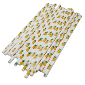 Pineapple Paper Straw Set