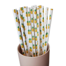 Load image into Gallery viewer, Pineapple Paper Straw Set