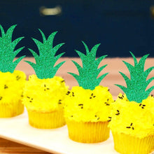 Load image into Gallery viewer, Pineapple Leaf Cupcake Toppers - Set of 10