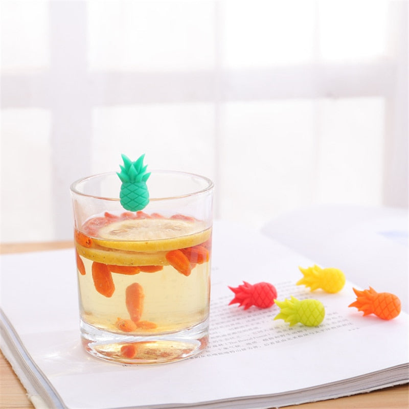 Pineapple Glass Markers - Set of 6