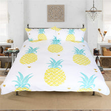 Load image into Gallery viewer, Printed Pineapple Bedding Set