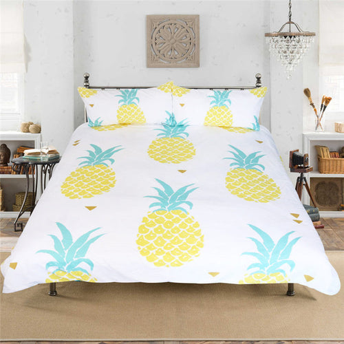 Printed Pineapple Bedding Set