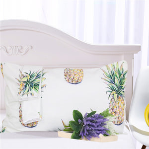Pineapple Printed 3 Piece Bedding