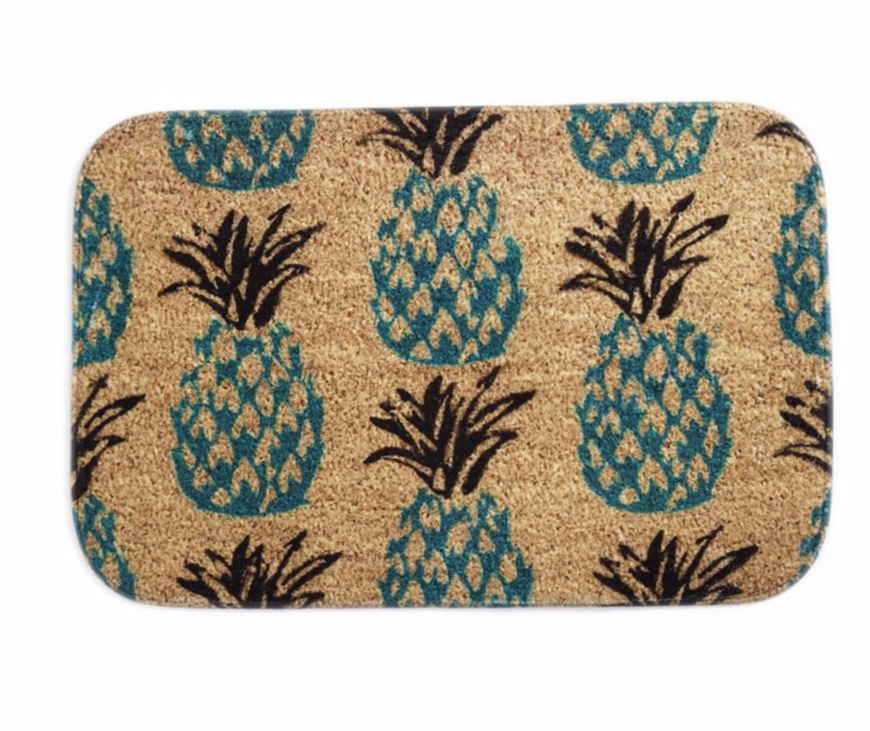 Pineapple Print Welcome Mat Outdoor/Indoor