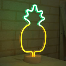 Load image into Gallery viewer, Pineapple LED Neon Style Desk Lamp