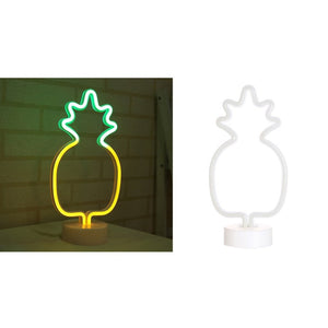 Pineapple LED Neon Style Desk Lamp