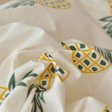 Load image into Gallery viewer, Pineapple Bedding Set Cotton Bedlinen (flat Sheet+Pillowcase+Duvet Cover set)