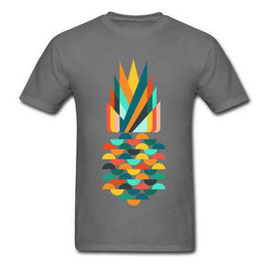 Pineapple Printed Geometric T-shirt