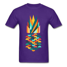 Load image into Gallery viewer, Pineapple Printed Geometric T-shirt