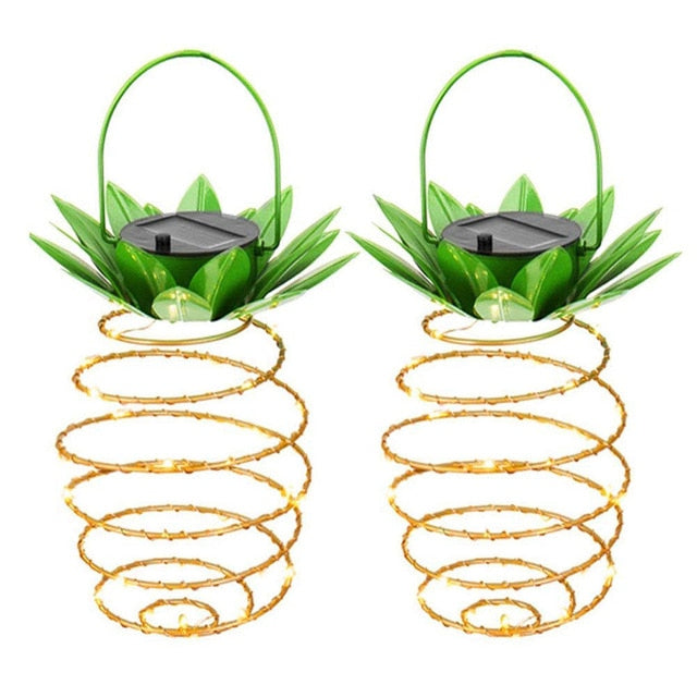 Pineapple Hanging Garden Solar Lights Waterproof