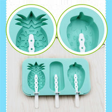 Load image into Gallery viewer, Pineapple and Strawberry Shape Popsicle Mold