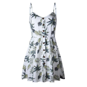 Pineapple Print Summer Dress