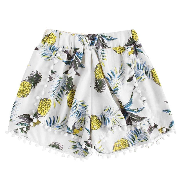 Pineapple Print Loose Shorts
