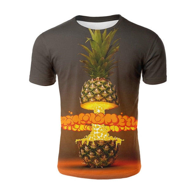 Pineapple Exploding All Over Print T-shirt