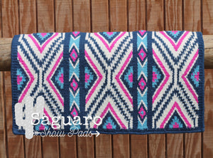 """X-Factor"" Ranch Pad NAVY/PINK/TURQUOISE - Re-Order"