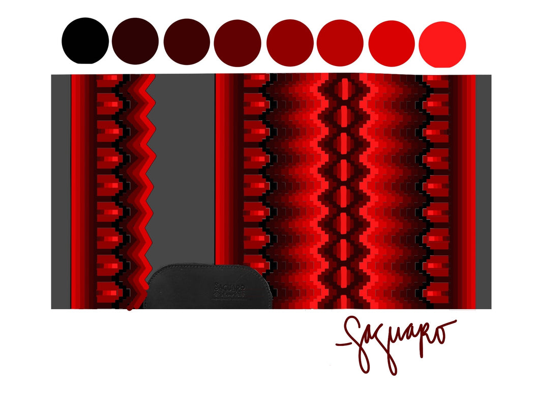 OMBRE COLLECTION (RED/CHARCOAL) Show Pad - Pre-Order