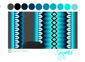OMBRE COLLECTION (TURQUOISE/CHARCOAL) Show Pad - Pre-Order