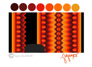 OMBRE COLLECTION (ORANGE/RED/YELLOW/BLACK) Show Pad - Pre-Order