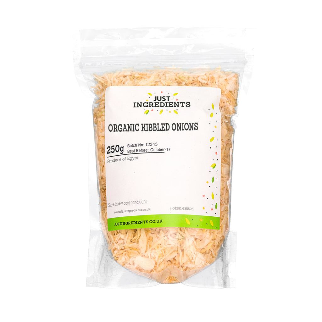 JustIngredients Organic Onions - Kibbled