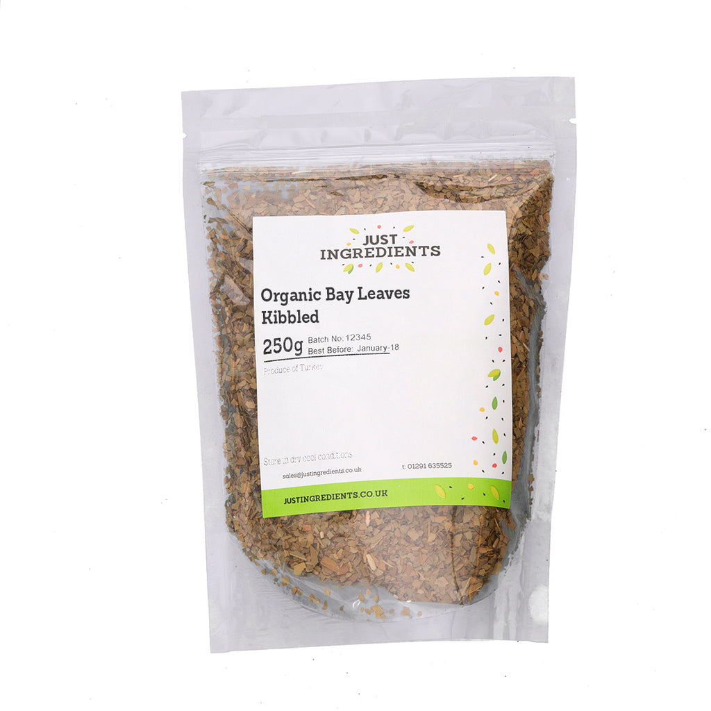 JustIngredients Organic Bay Leaves Kibbled