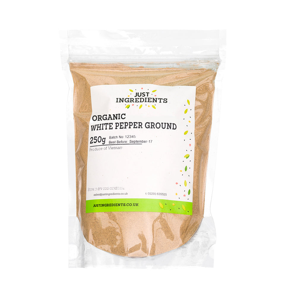 JustIngredients Organic White Pepper Ground