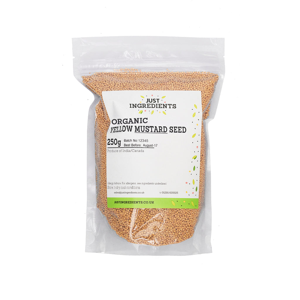 JustIngredients Organic Yellow Mustard Seeds