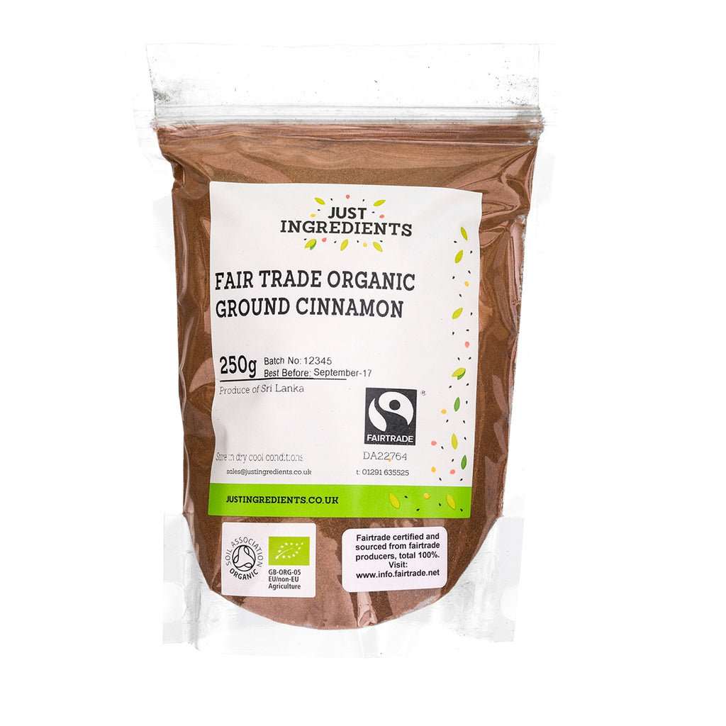 JustIngredients Fairtrade Organic Ground Cinnamon