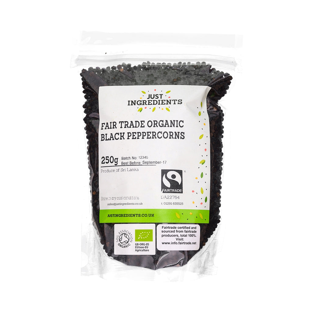 JustIngredients Fairtrade Organic Black Peppercorns