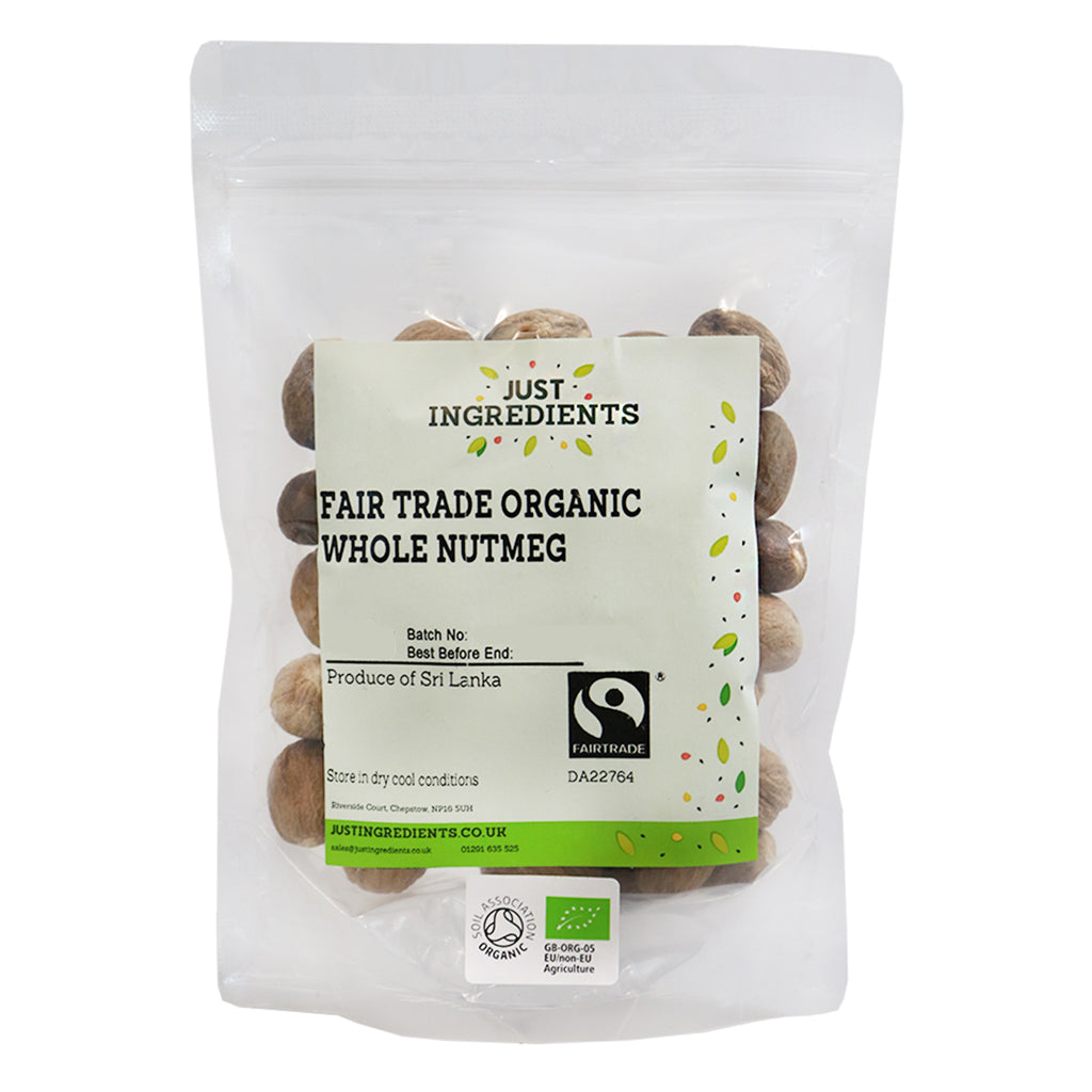 JustIngredients Fairtrade Organic Whole Nutmegs