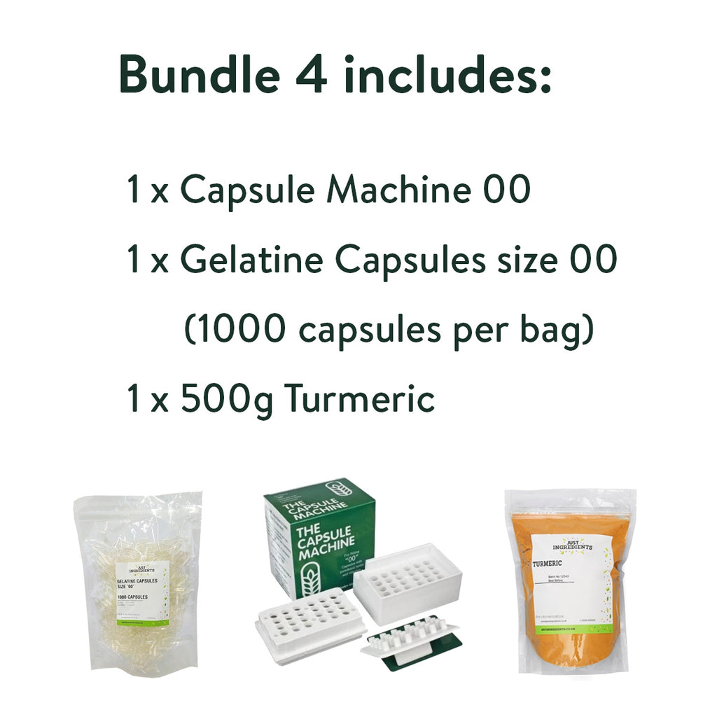 JustIngredients Capsule Starter Bundle - Turmeric