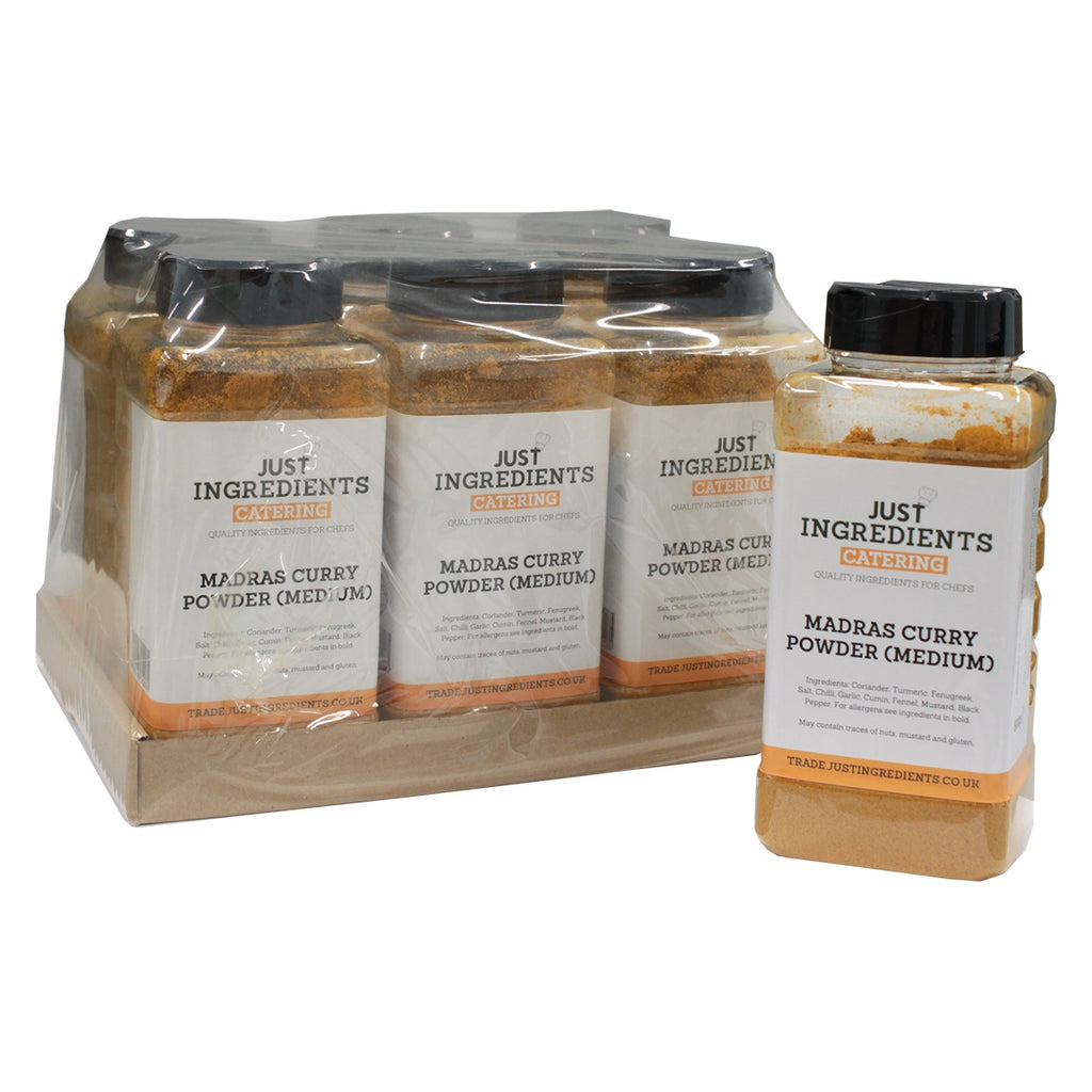 JustIngredients Madras Curry Powder (Medium) - Catering Tub 500g