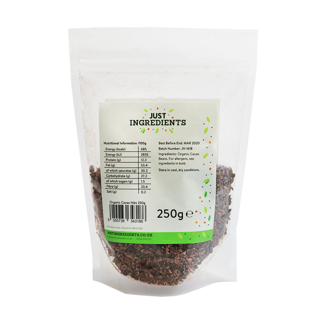 JustIngredients Organic Cacao Nibs