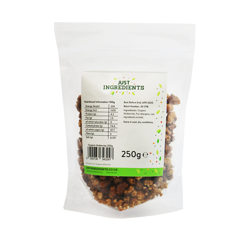 JustIngredients Organic Mulberries (White)