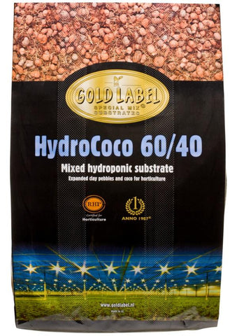 Vermicrop Gold Label HydroCoco 60/40 Mixed Hydroponic Substrate, 45 L