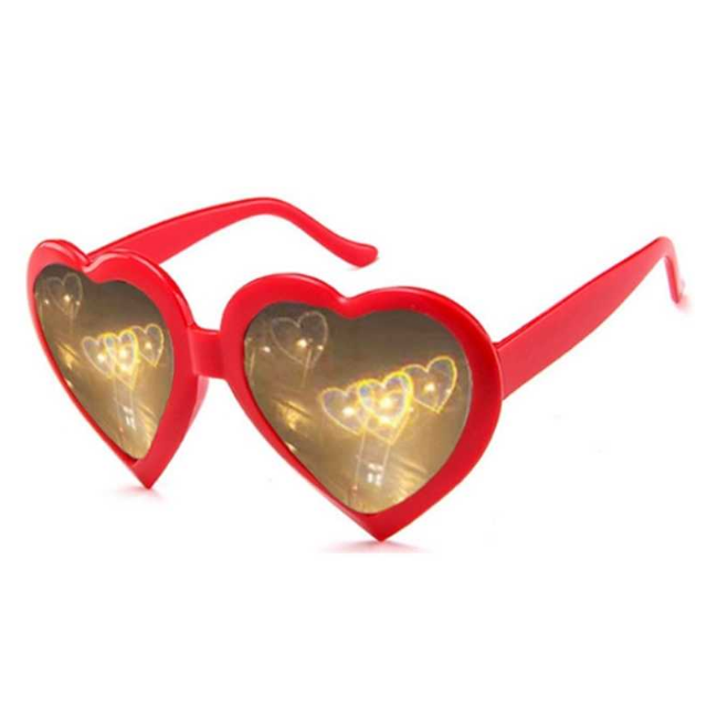 Vintage Heart Lenses Refraction Glasses